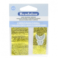 Beadalon Needles for bead cord sizes up to 0.18mm argenté
