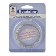 Beadalon Wrapping Wire Stainless Steel 20Gauge acier inox clair