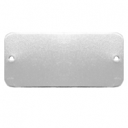 ImpressArt supports à graver pendentif/connecteur rectangle 44x20mm Aluminum argenté