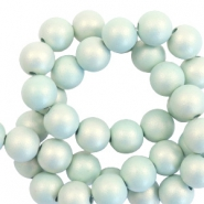 Perles acryliques 10mm mat nacre turquoise clair