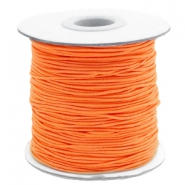 Fil élastique coloré 1mm orange vibrant