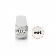 "ImpressArt tampons poinçon ""Hope"""" 6mm"" argenté"