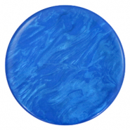 Cabochon plat 35mm Polaris Elements Lively Bleu princesse