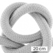 Cordelette style marin 10mm (4x20cm) Gris cool
