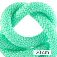 Cordelette style marin 10mm (4x20cm) Turquoise