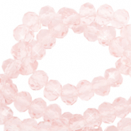 Perles à facettes 6x4mm disque Heishi Cristal rose blush-pearl shine coating