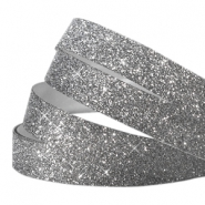 Tape 10mm crystal glitter anthracite