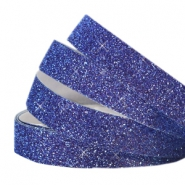 Tape 10mm crystal glitter bleu indigo